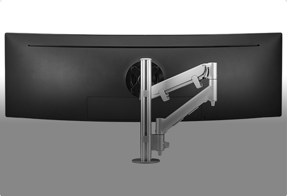 Monitor arms for curved large heavy displays